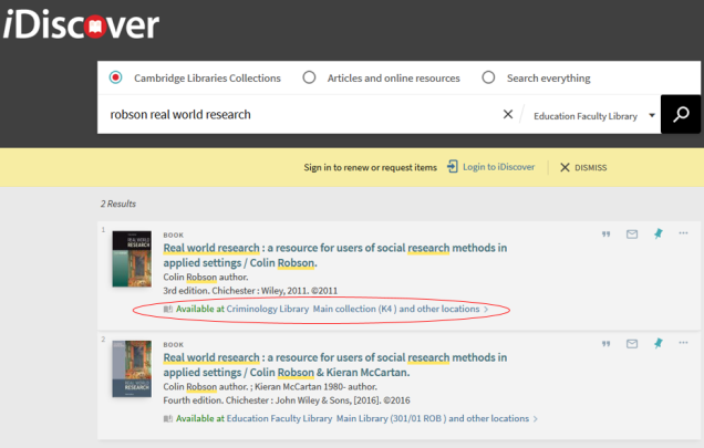 idiscover search